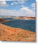 Lake Powell Landscape Panorama Metal Print