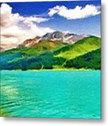 Lake Sils Metal Print