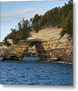 Lake Superior Pictured Rocks 17 Metal Print
