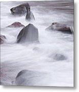Lake Superior Rocks Waves 1 B Metal Print