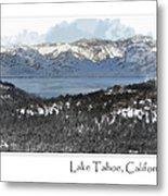 Lake Tahoe California In Winter Metal Print
