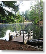 lake Vanare dock Metal Print by Lali Partsvania