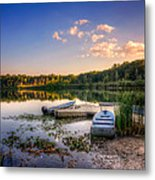 Lake View Row Boat Metal Print by Jenny Ellen Photography