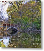 Lake Wingra Bridge Metal Print