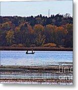 Lake Wingra Fishing Metal Print