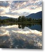 Lake With Clouds Metal Print