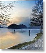Lake With Ice Metal Print