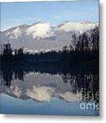 Lake With Mountain Metal Print