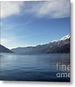 Lake With Snow-capped Mountain Metal Print