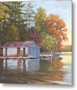 Lake Wylie Boathouse Metal Print