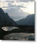 Lakes In Dolomiti Metal Print