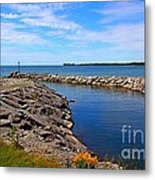 Lakeside Bend Metal Print
