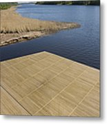 Lakeside Dock Metal Print