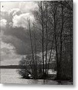Lakeside Storm Passing Metal Print