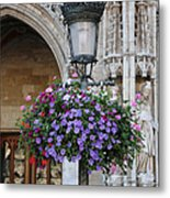 Lamp And Lace At The Grand Place Metal Print