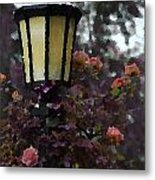 Lamp And Roses Metal Print