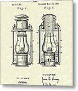 Lamp Pomeroy 1894 Patent Art Metal Print by Prior Art Design
