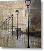 Lamp Posts And Concrete Metal Print