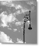 Lampost And Clouds In Wroclaw Poland Metal Print