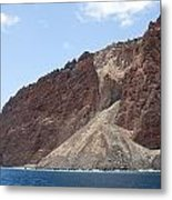 Lanais Coastline Cliffs Metal Print