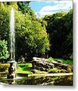 Lancaster Fountain Metal Print