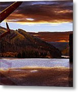 Lancaster Over Howden Dam Metal Print by Nigel Hatton