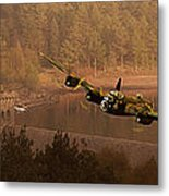 Lancaster Over The Dams Metal Print