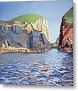 Land And Sea No I - Ramsey Island Metal Print