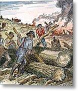 Land Clearing, C1830 Metal Print