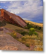 Land Of Red Metal Print