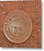 Land Survey Marker Metal Print