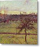 Landscape At Eragny Metal Print