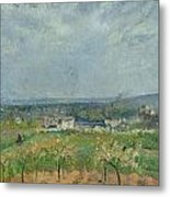 Landscape In Pontoise Metal Print by Camille Pissarro
