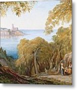 Landscape With View Of Lerici Metal Print