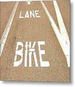 Lane Bike Metal Print by Jenny Senra Pampin