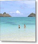 Lanikai Beach Of Oahu Metal Print