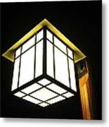 Lantern In The Night Metal Print