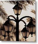 Lanterns And Fronds Metal Print