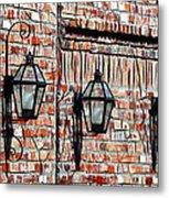 Lanterns In The Courtyard Metal Print