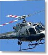 Lapd Aerial Chopper Metal Print