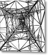 Large Electricity Powermast Metal Print
