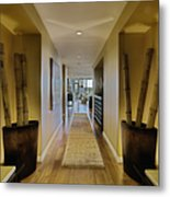 Large Hallway In Upscale Residence Metal Print by Andersen Ross