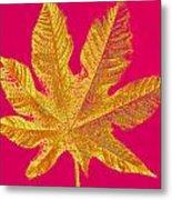 Large Leaf Photoart Metal Print