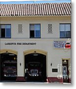 Larkspur Fire Department - Larkspur California - 5d18503 Metal Print by Wingsdomain Art and Photography