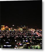 Las Vegas Nevada Nighttime Skyline Metal Print