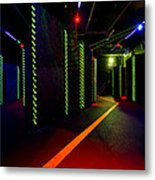 Laser Game Area With Obstacles Metal Print