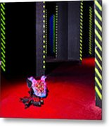 Laser Game Playing Space With Walls Metal Print by Corepics