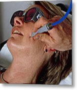 Laser Skin Treatment Metal Print