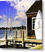 Lasers On The Dock2 Metal Print