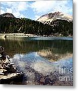 Lassen Mountain Lakes Metal Print